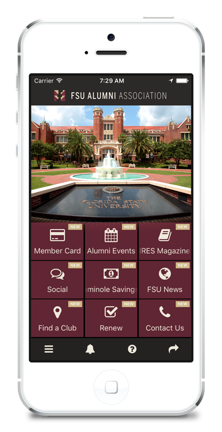 The FSU Alumni Association Mobile App